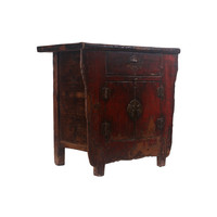 Fine Asianliving Small Antique Chinese Cabinet Dark Red