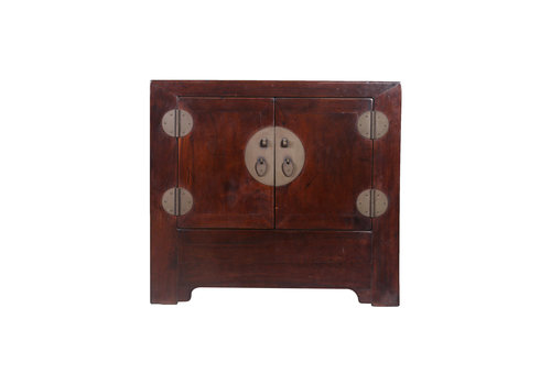 Fine Asianliving Armoire Chinoise Antique Petite Brune - Pékin, Chine