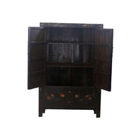 Antique Chinese Bridal Cabinet Black Flowers - Beijing, China