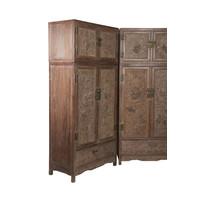 Antiker Chinesischer Hochzeitsschrank Set / 2 Handgefertigt Kaiser Dragons B110xT55xH240cm