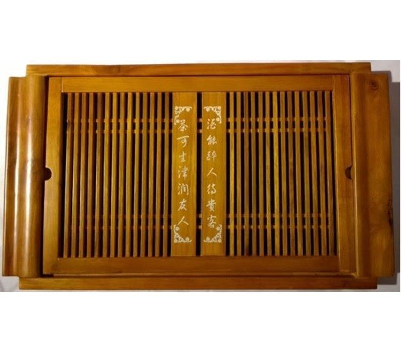 Bamboe Theeplateau met Chinese Karakters
