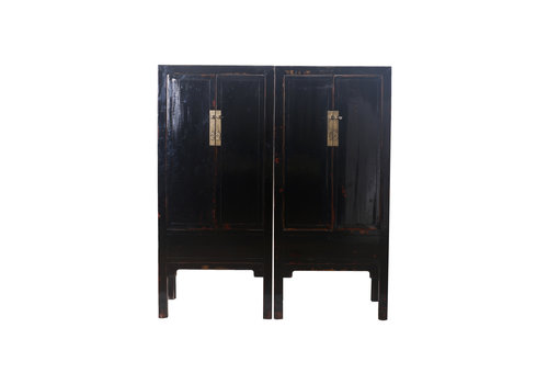 Fine Asianliving Fine Asianliving Antique Chinese Bridal Cabinet Set Black - Beijing, China