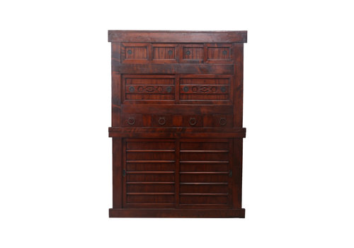 Fine Asianliving Fine Asianliving Antique Cabinet Brown - Japanese