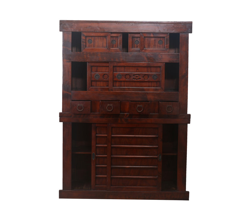 Fine Asianliving Antique Cabinet Brown - Japanese