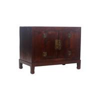 Fine Asianliving Antiek Chinees Kastje Bruin Patroon - Shanxi, China
