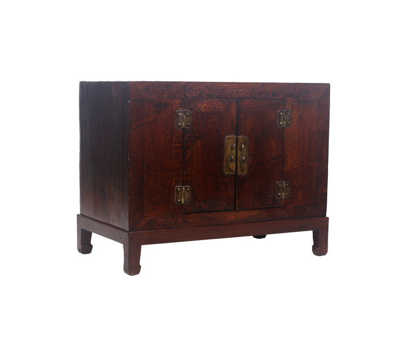 Fine Asianliving Antique Chinese Cupboard Brown Pattern - Shanxi, China