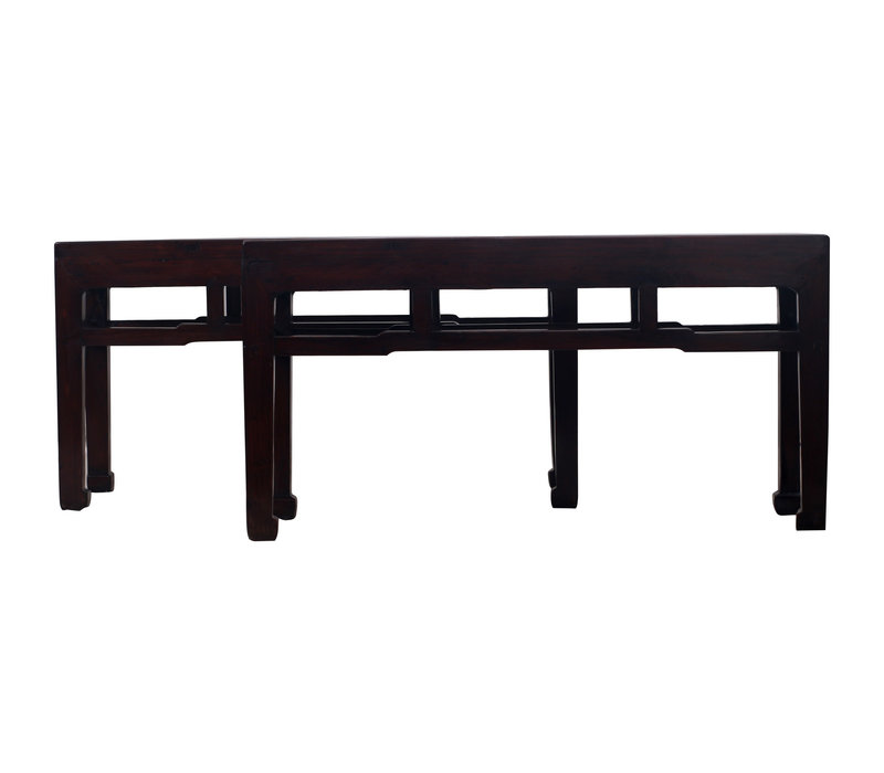 Fine Asianliving Antique Chinese Bench Dark - Zhejiang, China