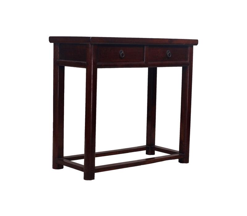 Antike Chinesischer Beistelltisch mit 2 Schubladen - Zhejiang, China