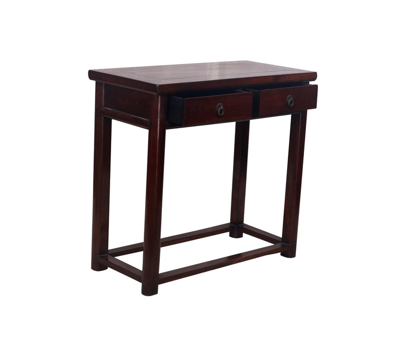 Table Console Chinoise Antique 2 Tiroirs - Zhejiang, Chine