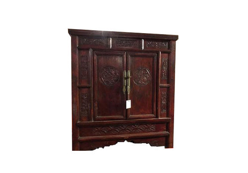 Fine Asianliving Antique Chinese Cabinet Hand Engraved