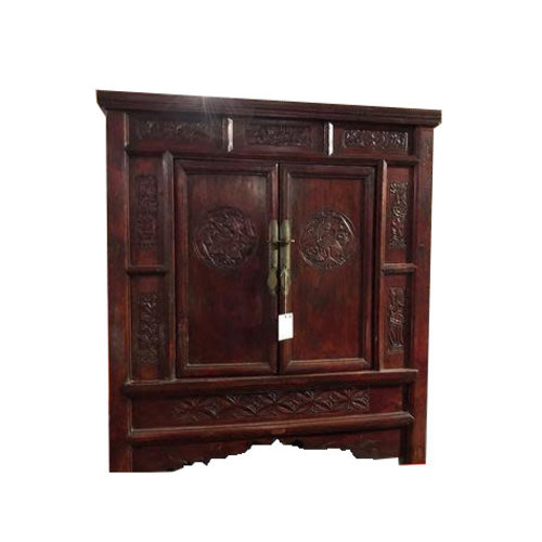 Antique Chinese Cabinet Hand Engraved