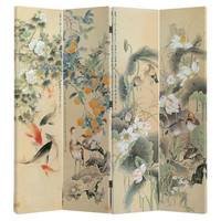 Room Divider Privacy Screen 4 Panel Oriental Paradise W160xH180cm