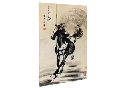 Fine Asianliving Fine Asianliving Room Divider Privacy Screen 3 Panel Chinese Horse
