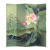 Fine Asianliving Fine Asianliving Chinees Kamerscherm Oosters Scheidingswand 4 Panelen Lotuspond L160xH180cm