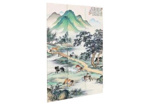 Fine Asianliving Fine Asianliving Kamerscherm Scheidingswand 3 Panelen Oude China