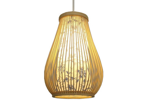 Fine Asianliving Ceiling Light Pendant Lighting Bamboo Lampshade Handmade - Chloe