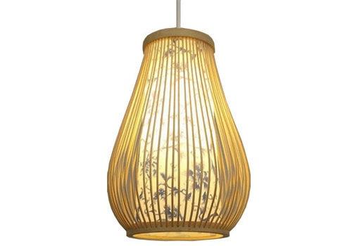 Fine Asianliving Ceiling Light Pendant Lighting Bamboo Lampshade Handmade - Chloe