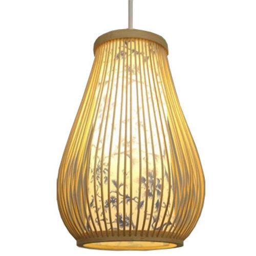 Ceiling Light Pendant Lighting Bamboo Lampshade Handmade - Chloe