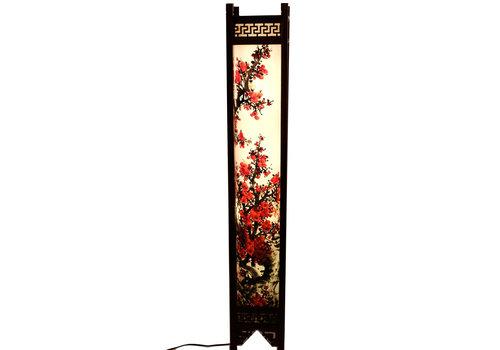 Fine Asianliving Fine Asianliving Japanse Vloerlamp Rijstpapier Handbeschilderde Sakura