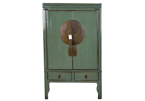 Fine Asianliving Fine Asianliving Antique Mint Chinese Bridal Cabinet - Zhejiang, China