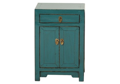 Fine Asianliving Fine Asianliving Chinese Night Stand Glossy Teal