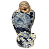Fine Asianliving Chinese Laughing Buddha Porcelain Statue Ornament
