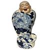 Fine Asianliving Happy Chinese Boeddha Beeld Lachend Porselein