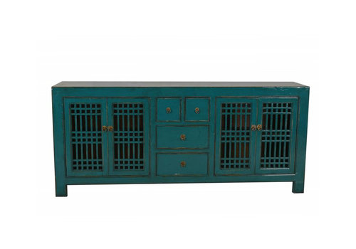Fine Asianliving Chinese sideboard with Open planes Teal-Beijing, China