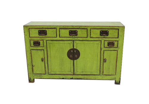 Fine Asianliving Enfilade Chinoise Antique Vitreuse Vert Tianjin Chine