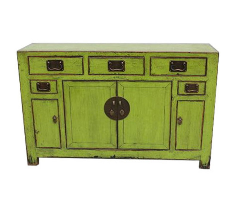 Enfilade Chinoise Antique Vitreuse Vert Tianjin Chine