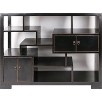 Chinese Open Cabinet Bookcase Black