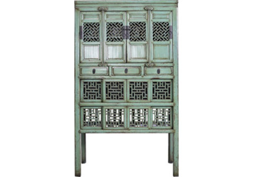 Fine Asianliving Antique Chinese Cupboard Hand Carved Mint