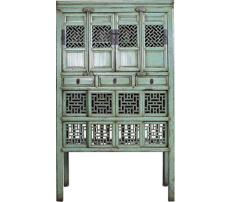 Antieke Chinese Kast Met Handsnijwerk Mint (1919-1929)