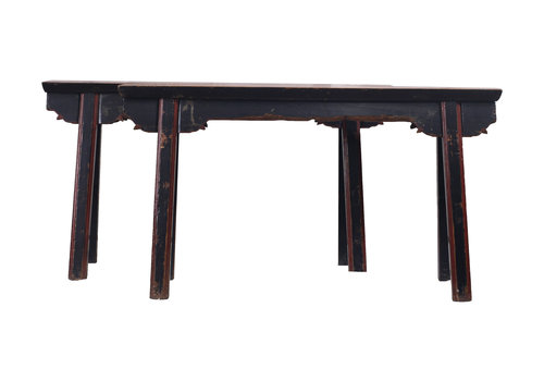 Fine Asianliving Fine Asianliving Antique Chinese Bench Black Red - Shanghai, China
