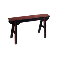 Antique Chinese Bench Black Red - Shanghai, China