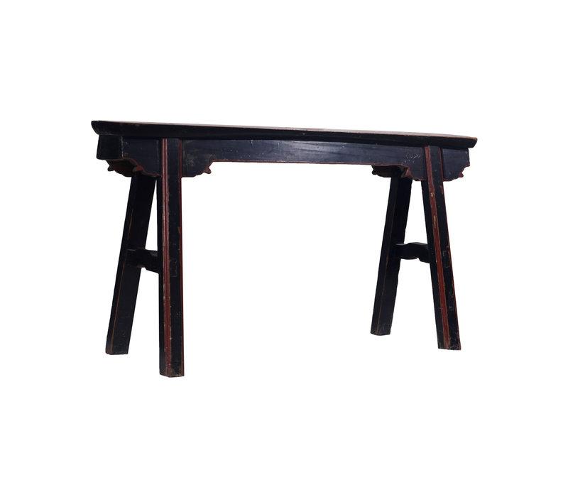 Antike Chinesische Sitzbank Schwarz Rot - Shanghai, China
