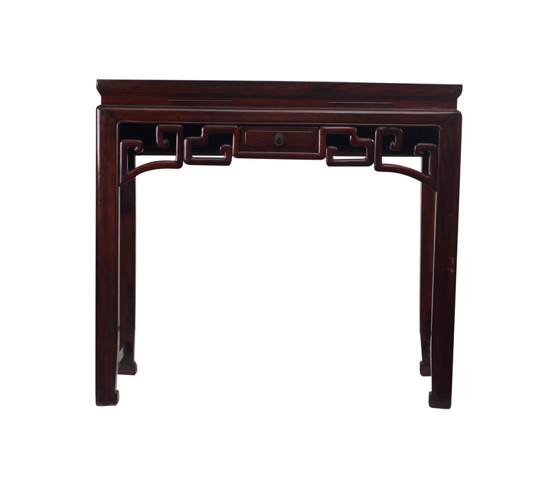 Antique Small Chinese Sidetable Details Drawer - Zhejiang, China