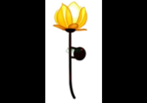 Fine Asianliving Chinese Wandlamp Lotus Zijde Geel
