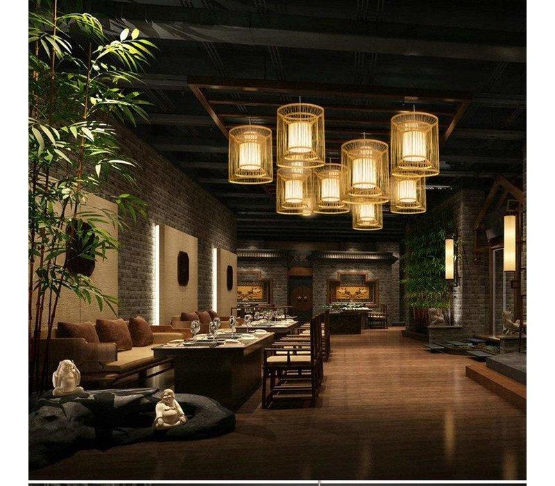Lampara de techo Bambú Lampara Colgante Hecho a mano - Alice