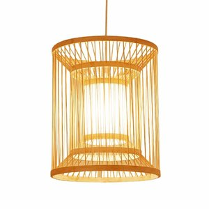 Fine Asianliving Fine Asianliving Ceiling Light Pendant Lighting Bamboo Lampshade Handmade - Alice
