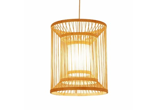 "Fine Asianliving Ceiling Light Pendant Lighting Bamboo Lampshade Handmade - ""Alice"""