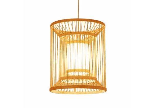 Fine Asianliving Lámpara de Techo Colgante de Bambú Hecha a Mano - Alice