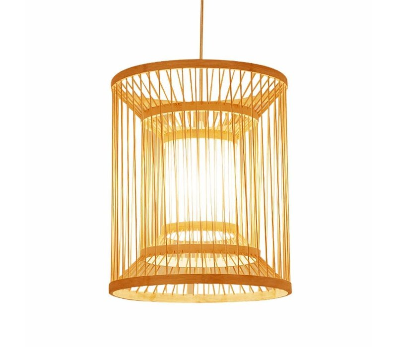 Fine Asianliving Ceiling Light Pendant Lighting Bamboo Lampshade Handmade - Alice