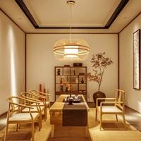 Fine Asianliving Deckenleuchte Pendelleuchte Beleuchtung Bambus Lampenschirm Handgefertigt - Fiona