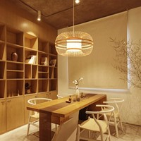 Fine Asianliving Ceiling Light Pendant Lighting Bamboo Lampshade Handmade - Fiona