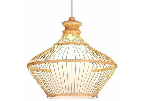 "Fine Asianliving Ceiling Light Pendant Lighting Bamboo Lampshade Handmade - ""Ophelia"""