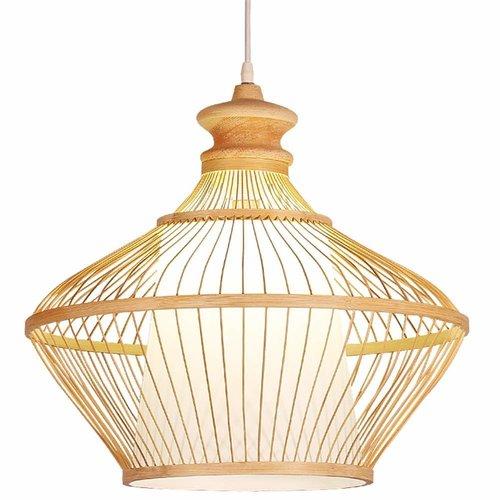 Ceiling Light Pendant Lighting Bamboo Lampshade Handmade - Ophelia