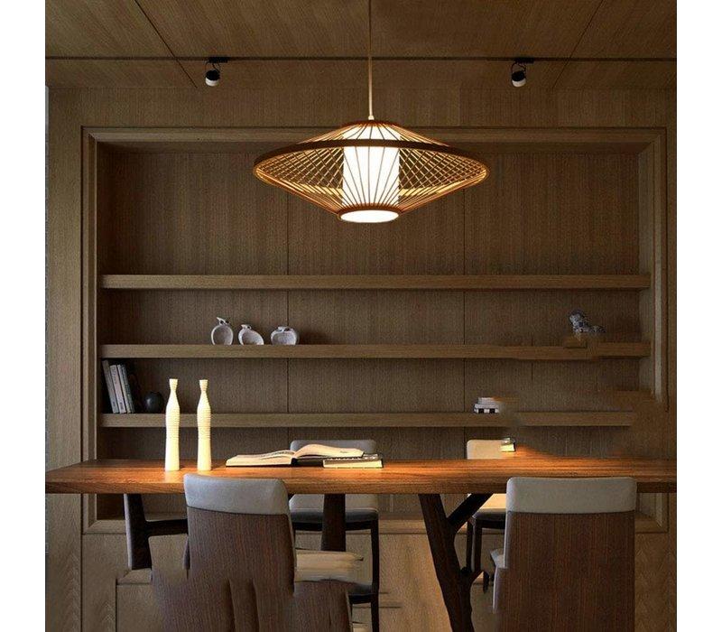Fine Asianliving Deckenleuchte Pendelleuchte Beleuchtung Bambus Lampenschirm Handgefertigt - Sienna