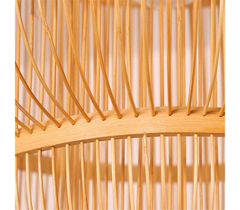 Fine Asianliving Plafoniera Lampada A Sospensione Bambù Paralume Fatto A Mano - Evon