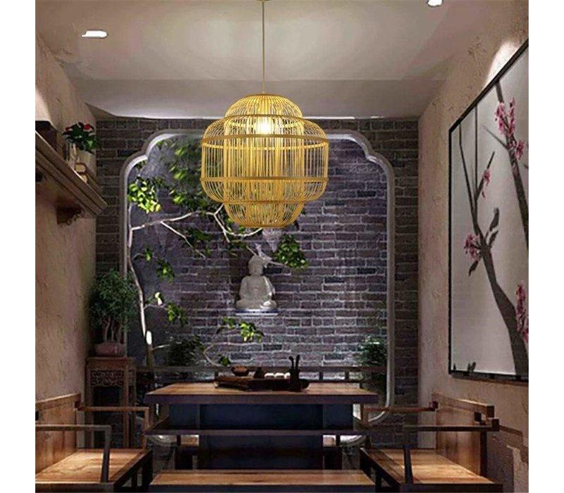 Fine Asianliving Lampara de techo Bambú Lampara Colgante Hecho a mano - Evon